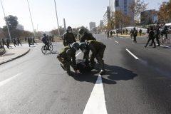Manifestacion en Plaza Italia