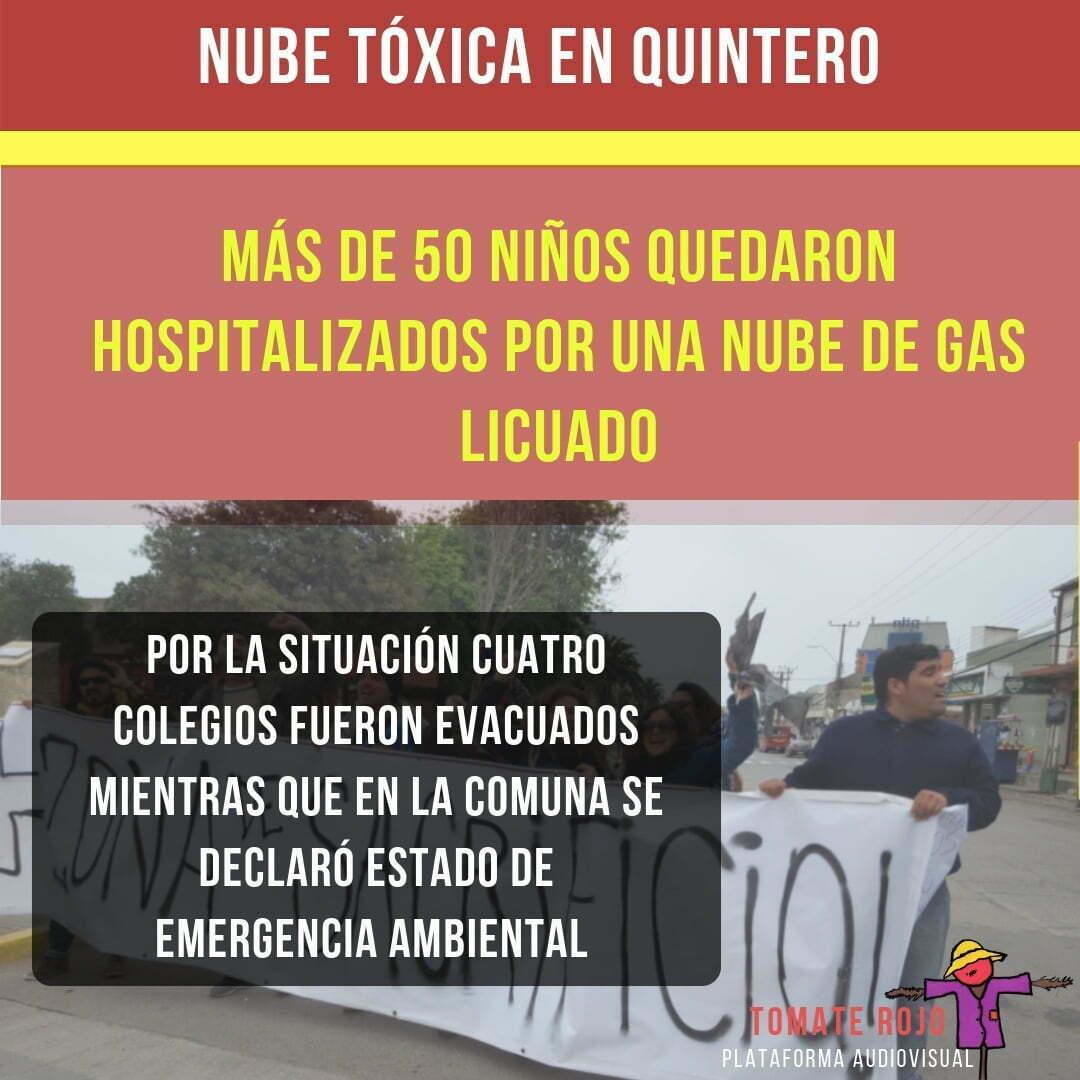 SALE - Quintero: nube tóxica deja hospitalizados a más de 50 niños
