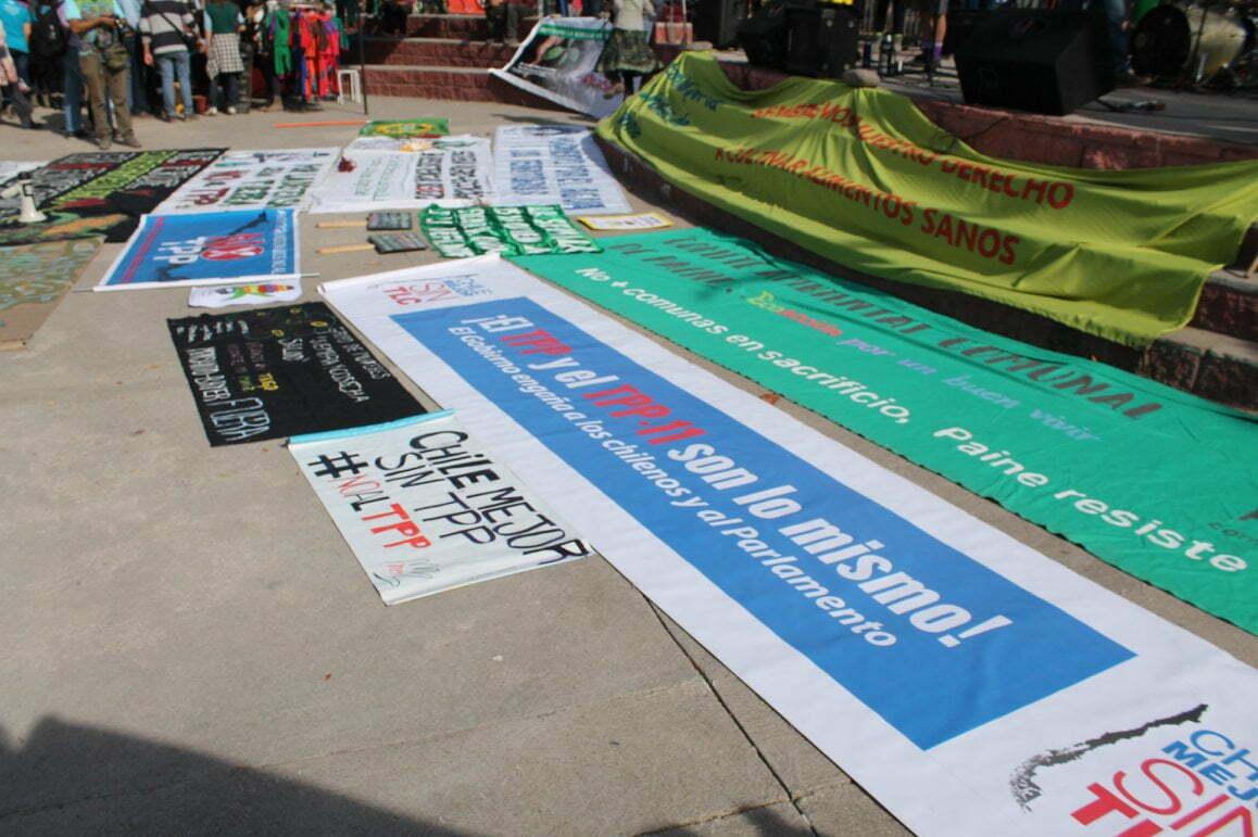 Manifestación no más TPP / Tomate Rojo
