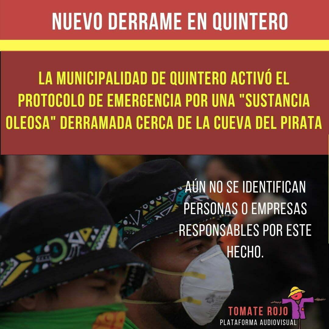 Derrame en Quintero / la contaminación en la zona generó muchas manifestaciones