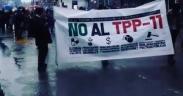 Protestas contra el TPP11 en Valdivia