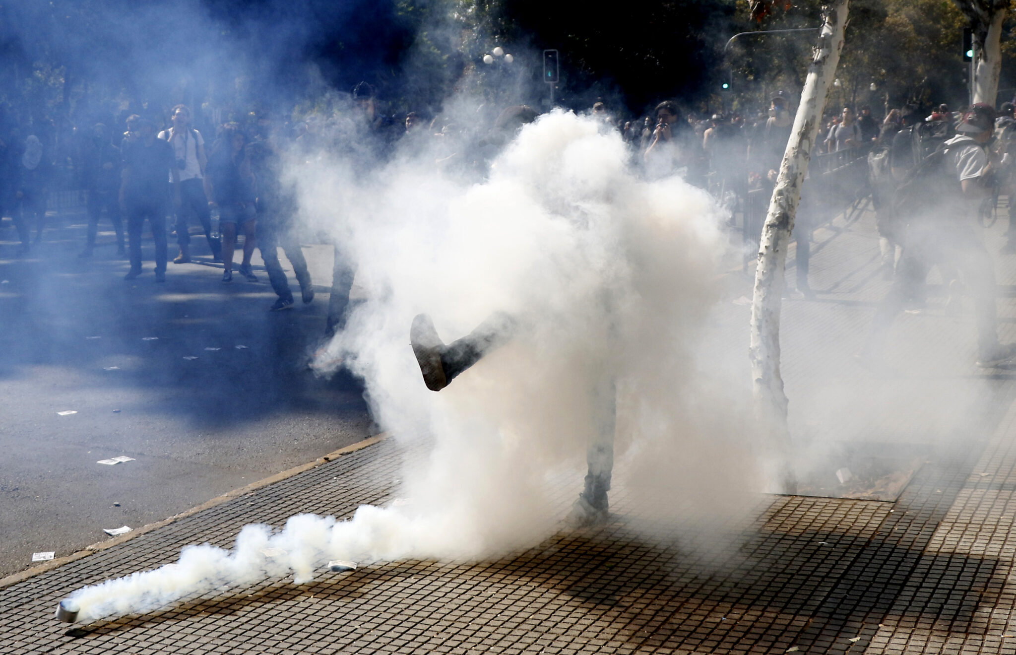 bombas lacrimogenas