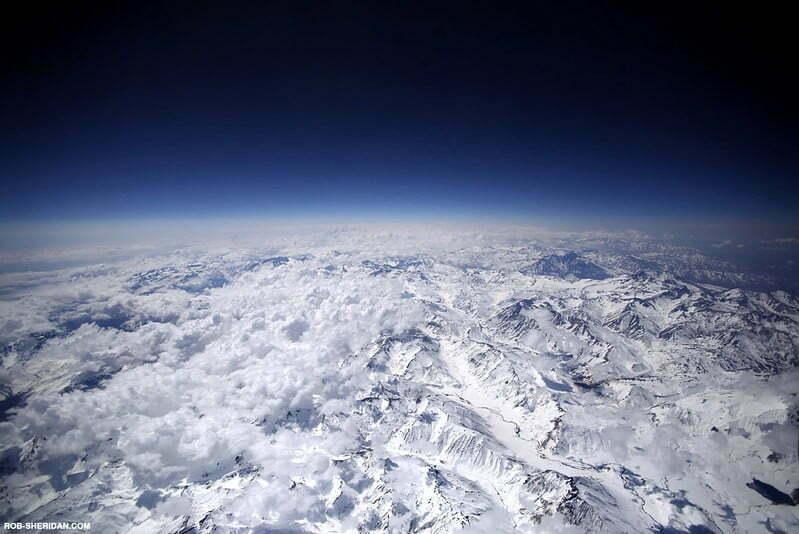 Cordillera de Los Andes chilena,