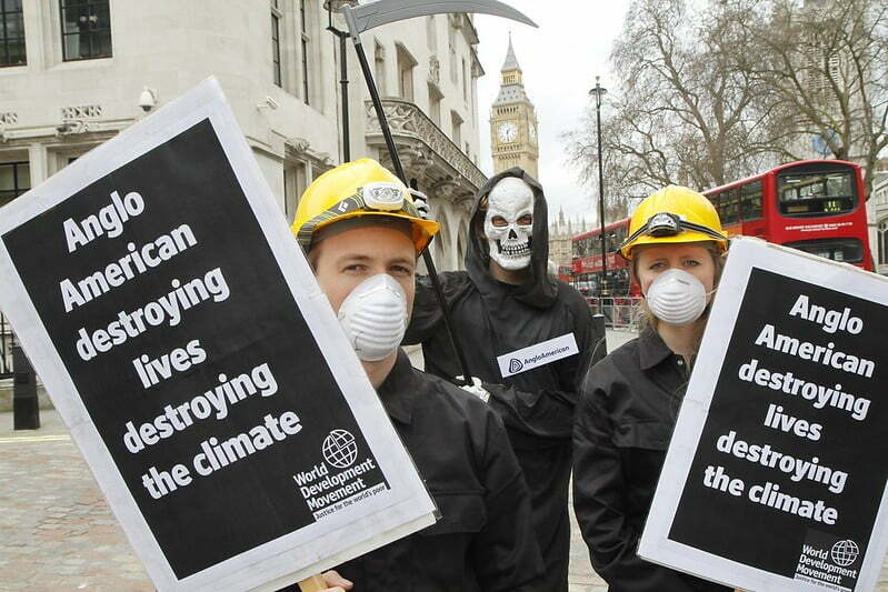 He's behind you! Anglo-American's grim reaper approaches WDM campaigners